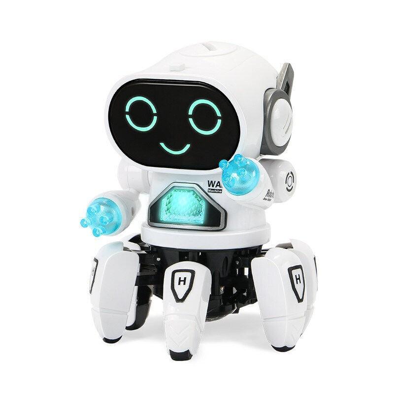 贝利雅 音乐跳舞六爪鱼机器人 干电池版 白色