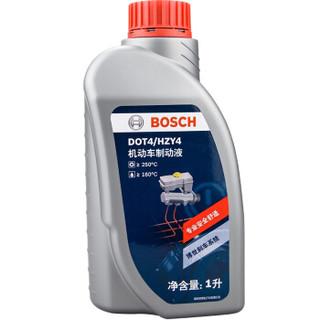 博世(BOSCH) DOT4 刹车油/制动液/离合器油 1L 通用型(干沸点250℃/湿沸点160℃)进口原料国内调配 一升装 *3件