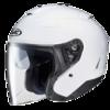 hjc进口双镜片半盔摩托车夏季机车半覆式头盔四季电动复古哈雷安全帽 白色 XL