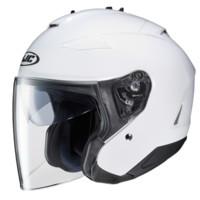 hjc進口雙鏡片半盔摩托車夏季機車半覆式頭盔四季電動復古哈雷安全帽 白色 XL