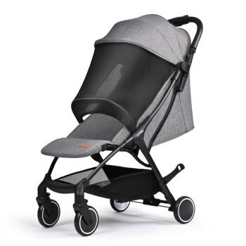 京东PLUS会员:晨辉(CHBABY)法国婴儿推车可坐可躺轻便折叠伞车0-4岁便携式儿童手推车避震宝宝推车A742A 亚麻灰