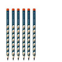 STABILO 思笔乐 322 握笔乐 HB洞洞铅笔 6支 送卷笔刀+橡皮+笔帽