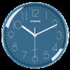 HPANPAN 挂钟创意时尚时钟静音石英钟表客厅卧室简约钟表现代简约静音钟时尚个性 全蓝色26CM