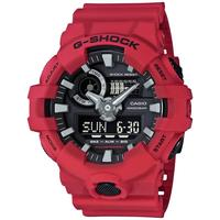 Men's Analog-Digital Red Resin Strap Watch 53x58mm GA700-4A