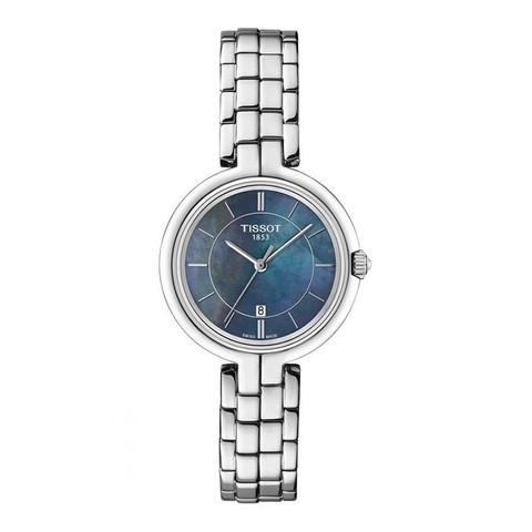 天梭(TISSOT)瑞士品牌弗拉明戈系列石英表女 潮流优雅 时尚雅致休闲女士手表