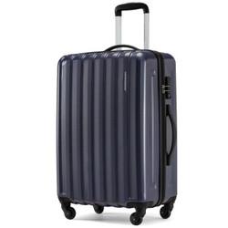 新秀丽旗下 卡米龙拉杆箱行李箱男旅行箱女密码箱托运箱轻盈商务经典条纹BB2深蓝色28英寸
