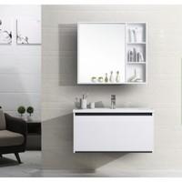HOROW 希箭 黑白70 森柔 挂墙式实木浴室柜 70cm