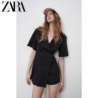 ZARA 07385108800  女士府绸双襟连衣裙