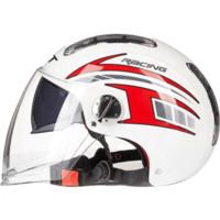 GXT 亮白飞刀 复古电动摩托头盔