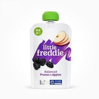 小皮(LittleFreddie)西梅苹果泥宝宝辅食泥欧洲原装进口婴儿果泥西梅泥(6+月龄适用)100g*1袋 *5件