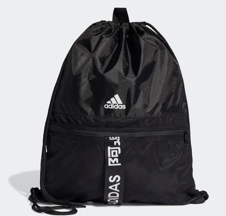 阿迪达斯官网 adidas 4ATHLTS GB FJ4446 中性运动抽绳包 黑色/黑色/白 NS