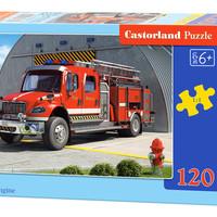Castorland巧思 进口儿童拼图 120片 消防车B-12831