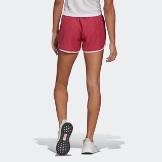 阿迪达斯官网 adidas M20 SHORT 女装跑步运动服装GK5263 粉/白 A/XL4(170/82A)
