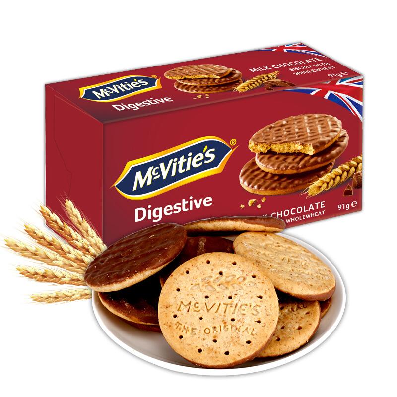 有券的上 : McVitie's 麦维他 全麦饼干 91g