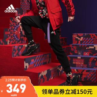 阿迪达斯官网 adidas FI PNT DK 3S 新年款赵俊凯同款男装训练运动裤装GP1013 黑色/黑色 A/M(175/80A)