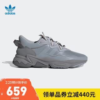 阿迪达斯官网 adidas 三叶草 OZWEEGO OZWG 男鞋低帮经典运动鞋GZ2774 浅灰/深灰/灰白 42(260mm)
