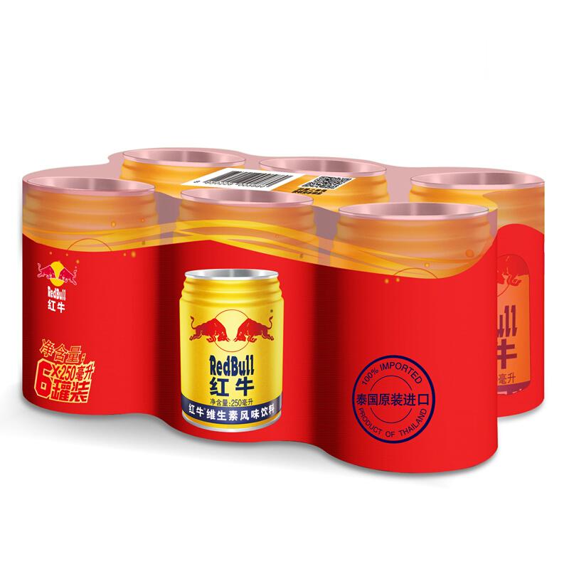 Red Bull 红牛 红牛 维生素风味饮料 250ml*6罐 组合装