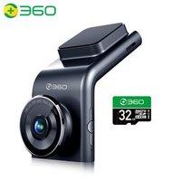 京东PLUS会员:360 G300pro 行车记录仪 1296p高清+32g卡