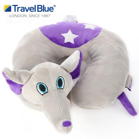 蓝旅(TRAVEL BLUE)可爱卡通儿童旅行安全座椅枕3-12岁宝宝颈椎脖子u型枕护颈枕 狂奔象