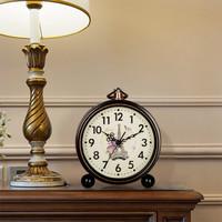 漢時(Hense)創意鬧鐘古典靜音座鐘簡約臥室床頭鐘兒童學生鬧表桌面小臺鐘裝飾石英鐘表HA65巴黎鐵塔