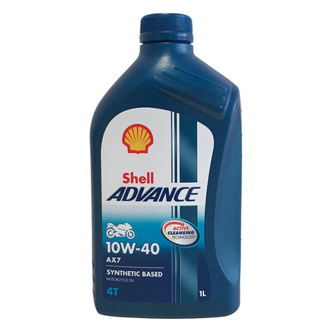 壳牌(Shell)合成机油 Advance AX7 10W-40 四冲程摩托车机油 1L 欧盟原装进口