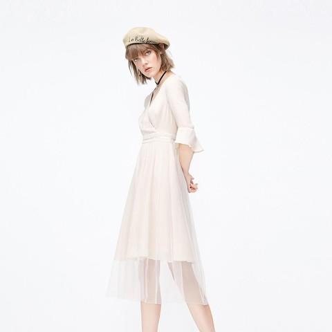 ONLY 119107621 女款网纱雪纺连衣裙