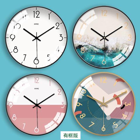 钟表挂钟客厅创意北欧式时钟卧室现代简约田园家用个性静音石英钟