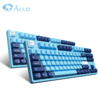 AKKO 3108DS 天空之境 机械键盘 87键 TTC轴 金茶/ 金红
