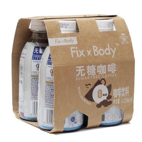 Want Want 旺旺 FixXBody 无糖咖啡 250ml*4瓶