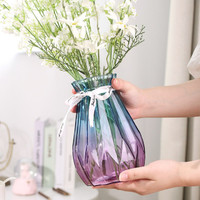 京东PLUS会员:盛世泰堡 玻璃花瓶 钻石款 18cm