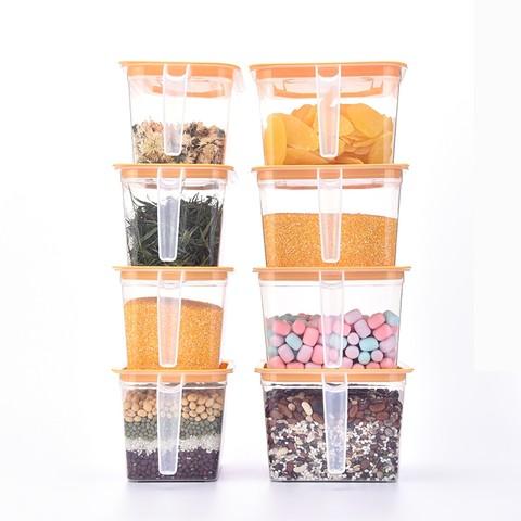 乐博冰箱收纳盒五谷杂粮零食透明食品干果大米普洱茶调料味整理盒