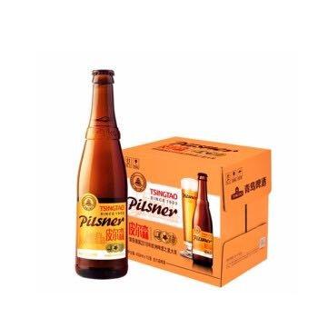 青岛啤酒 TSINGTAO 皮尔森啤酒 麦芽浓度10.5度 酒精度≥4 麦香浓郁 酒味醇厚 整箱装 450ML*12瓶 *3件