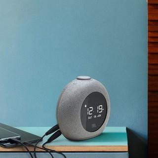 JBL HORIZON 2音乐地平线二代 桌面音箱 卧室迷你音响 蓝牙立体声多媒体音箱 带闹钟收音机充电 夜灯 灰色