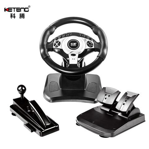 科腾 KETENG D7C1 电脑赛车游戏方向盘模拟驾驶 欧卡2极品飞车PS3游戏机模拟器