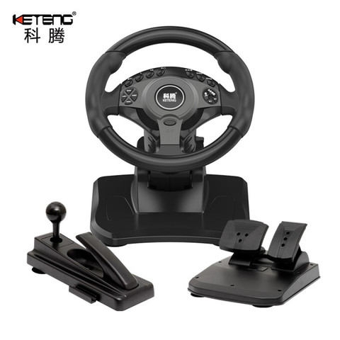 科腾 KETENG K900游戏方向盘电脑赛车900度模拟驾驶方向盘