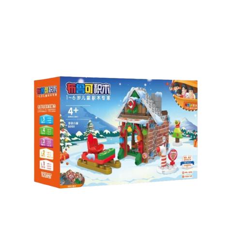 布鲁可 大颗粒积木 儿童玩具 布鲁克男孩女孩多拼装玩具 创造大师系列-我的家-圣诞小屋