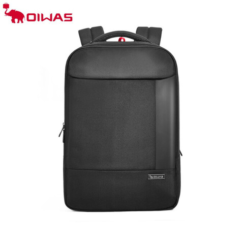 爱华仕(oiwas)背包男士双肩包15.6英寸笔记本电脑包男士商务背包学生书包轻便 4432 黑色