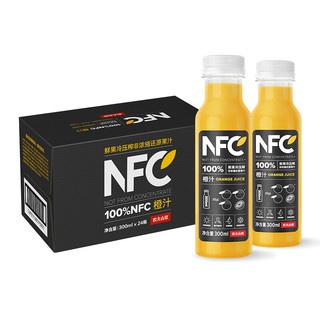 NONGFU SPRING 农夫山泉 100%NFC 鲜橙汁 300ml*24瓶