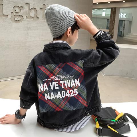 童装男童牛仔外套2021新款韩版秋款中大童潮流儿童洋气夹克上衣
