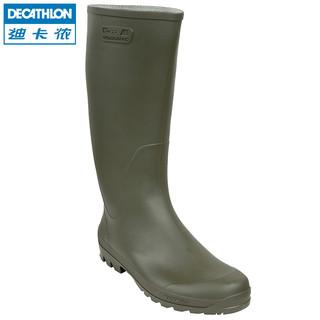 迪卡侬旗舰店 高筒长筒雨鞋男水鞋雨靴水鞋套鞋水靴防滑时尚 SOL