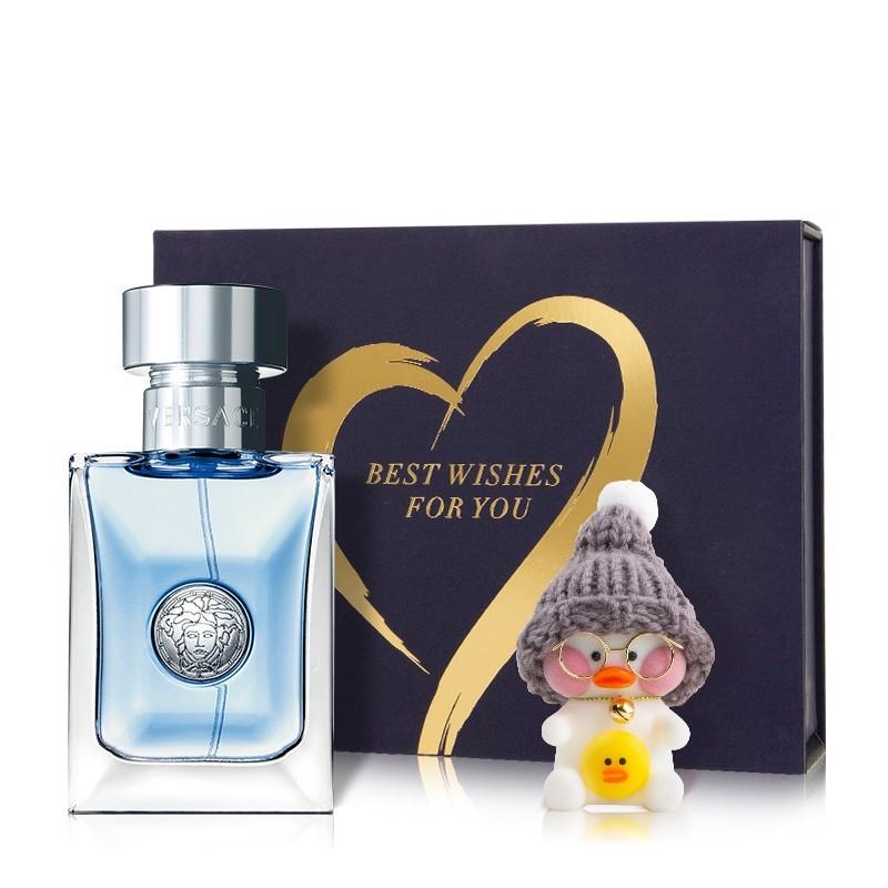 VERSACE 范思哲 陪伴礼盒香水(专属礼盒+男士50ml+网红陪伴鸭+贺卡)