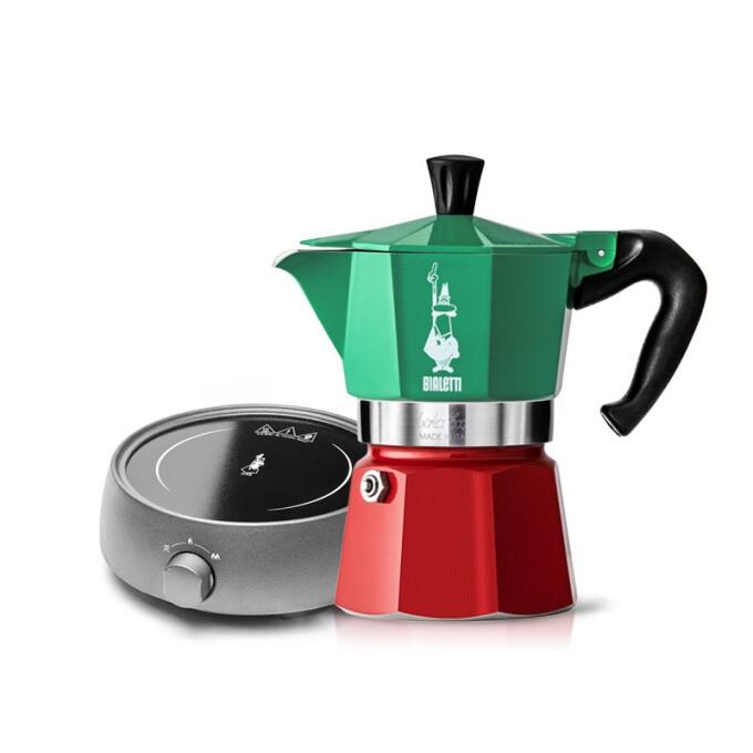 BIALETTI 比乐蒂 摩卡咖啡壶 3杯份+电陶炉