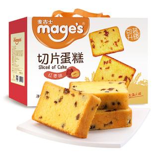 mage's 麦吉士 切片蛋糕 红枣味 820g