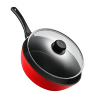 ZWILLING 双立人 炒锅(28cm、不粘、铝合金、红色)