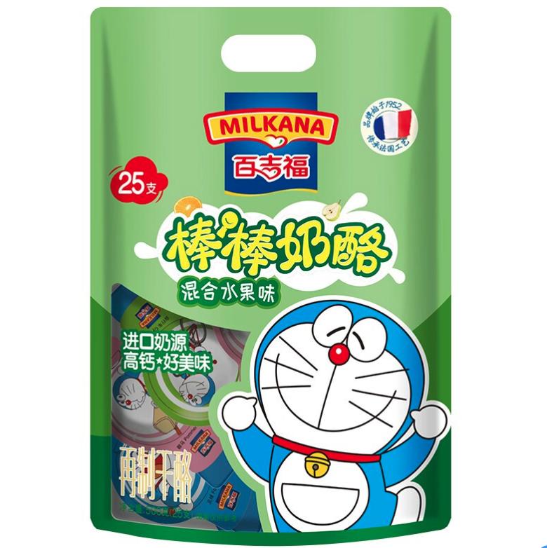 MILKANA 百吉福 百吉福(MILKANA)棒棒奶酪棒 混合水果味 500g/25粒装 儿童高钙健康休闲零食