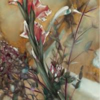 靜物風景花卉油畫《花樣年華》熊寧輝 典雅栗104×145cm