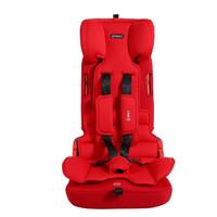 360汽车用儿童安全座椅9个月-12岁 灵巧款易携带isofix接口 T201红色版