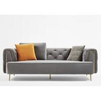 5日0点:卡伊莲 美式轻奢布艺沙发 双扶手三人