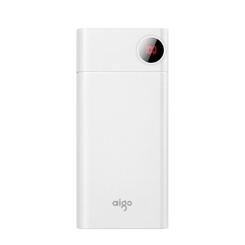 aigo爱国者移动电源 大容量18W快充 充电宝20000mAh F20000PD (白色)