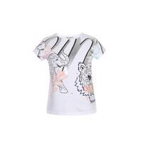 高田贤三 KENZO KIDS 奢侈品童装 20春夏款 女童棉质虎头印花短袖T恤